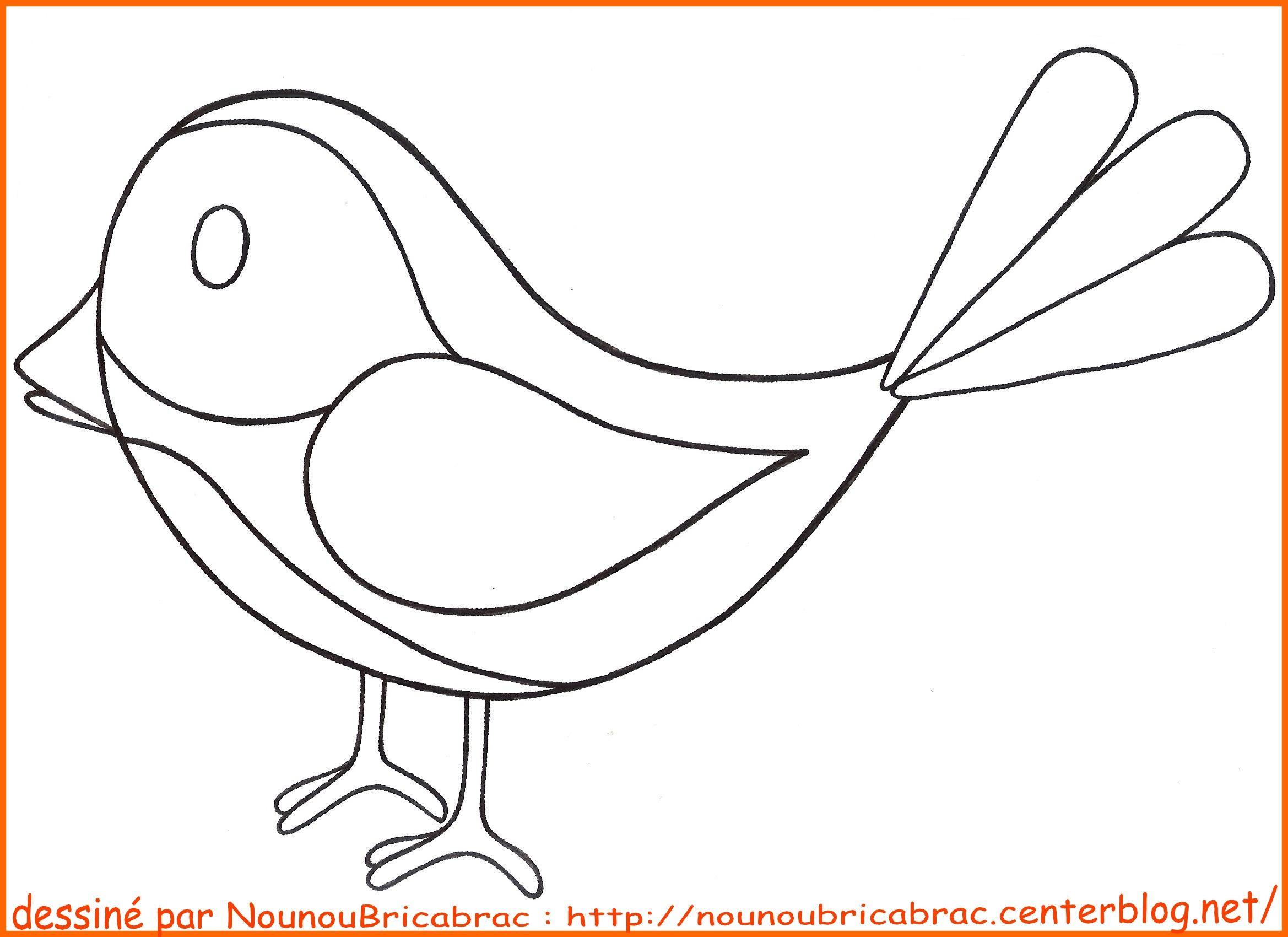 Coloriages animaux page 4 - Dessiner un oiseau en maternelle ...