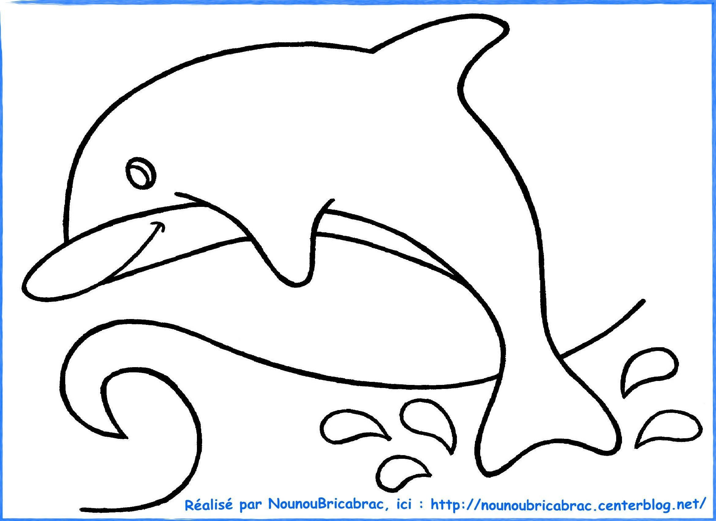 Beau Image A Colorier Animaux Marins
