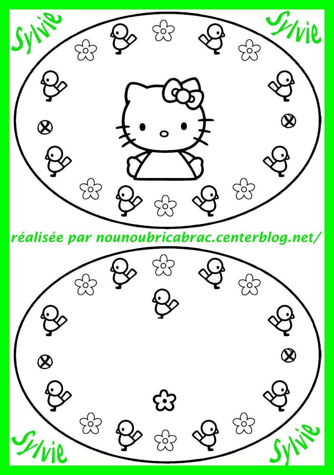 Thaumatrope Hello Kitty... à réaliser soi-même