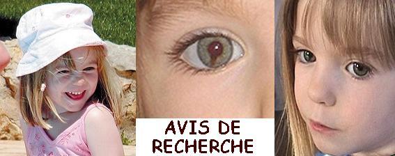 AVIS DE RECHERCHER POUR RETROUVER MADDIE