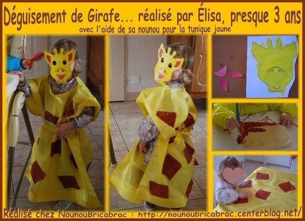 Déguisement de Girafe... réalisé par Élisa