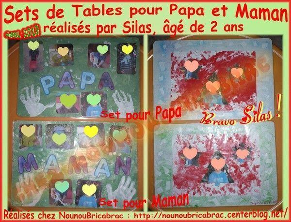 de table pour papa et maman - silas, 2 ans