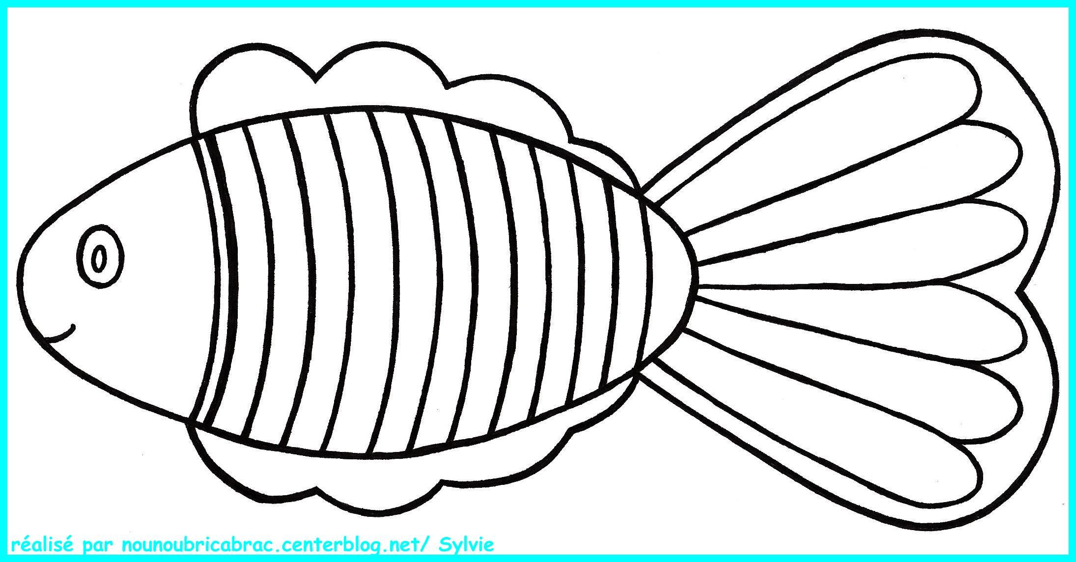 Poisson a colorier - Dessin poisson ...