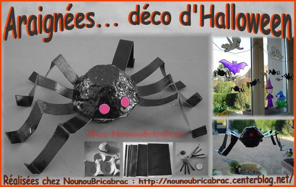 araign es terrifiante pour halloween centerblog. Black Bedroom Furniture Sets. Home Design Ideas