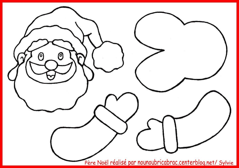 Père Noël... à réaliser avec un rouleau...