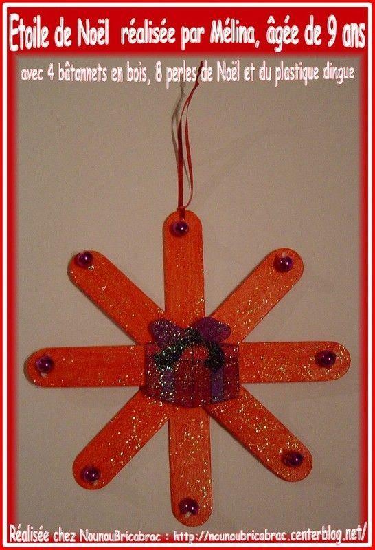 Étoile de Noël en bâtonnets et plastique dingue de Mélina