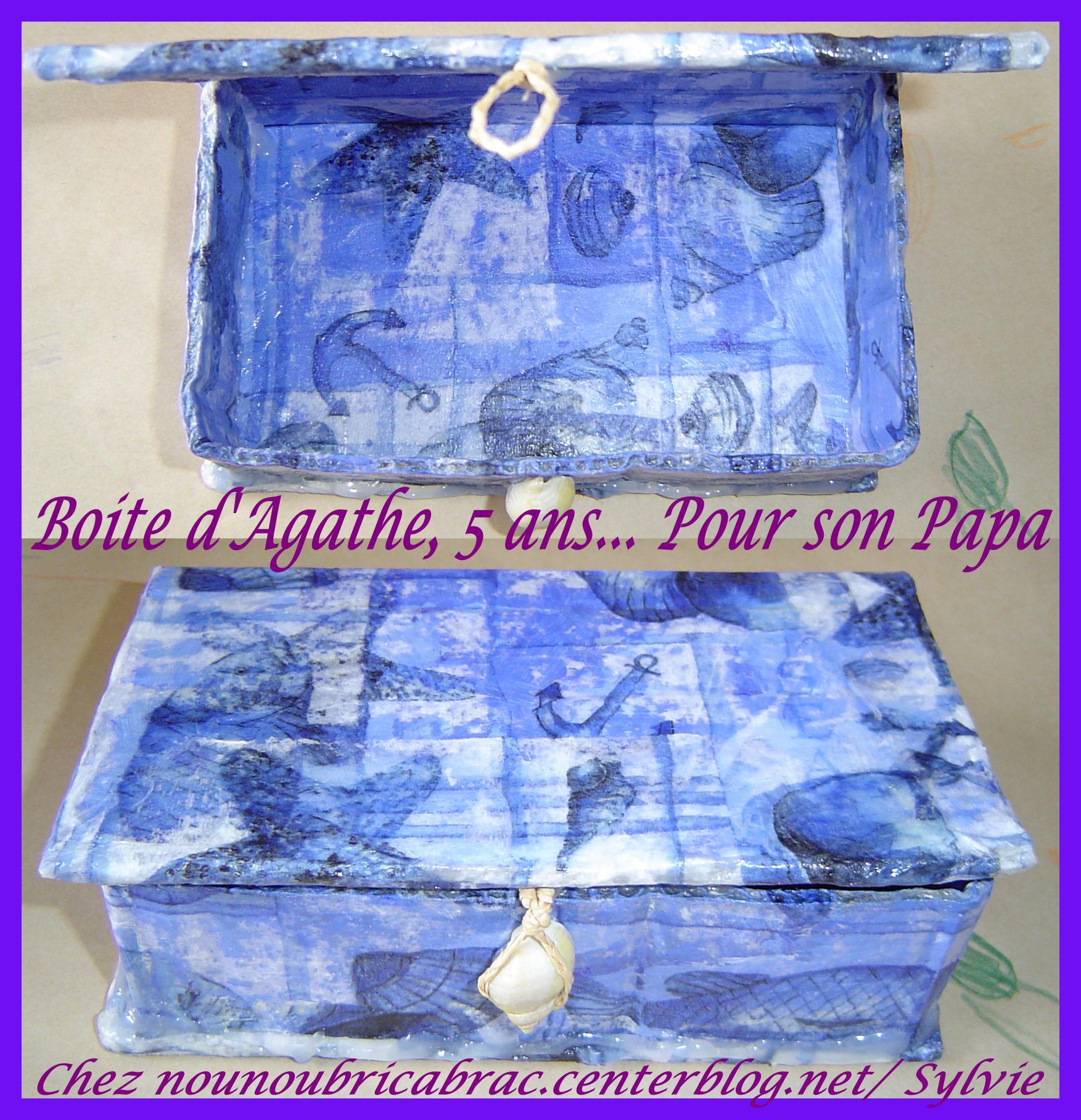 Boîte à trésors... faite par Agathe pour son papa