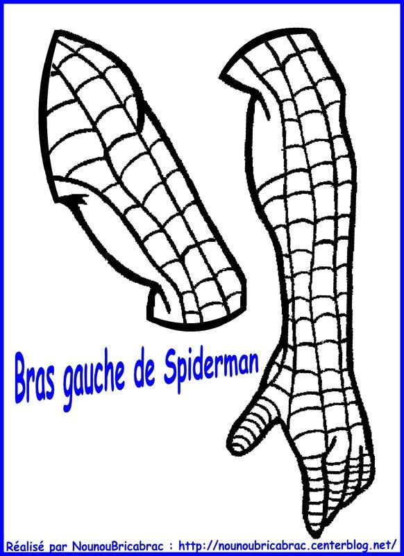 Marionnette Spiderman : son bras gauche