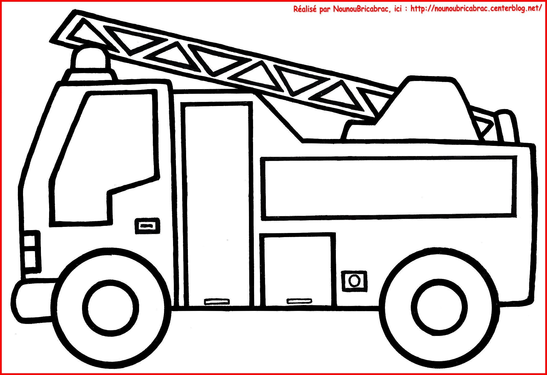 Coloriages transports - Camion a colorier gratuit ...