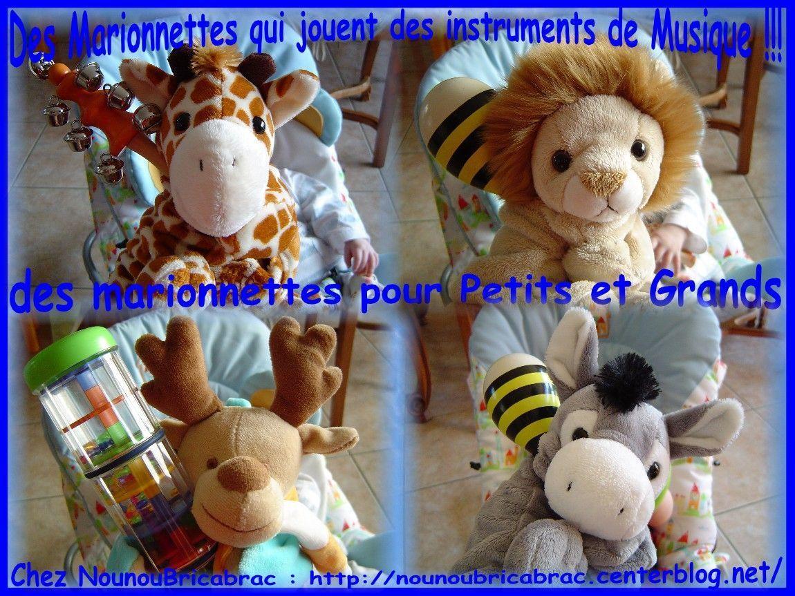 Des marionnettes qui jouent des instruments de musique...