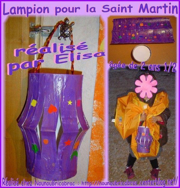 Lampion pour la Saint Martin, réalisé par Élisa, 2 ans 1/2