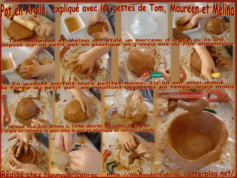 Pot en Argile... réalisé et expliqué en gestes par Tom, Maureen et Mélina