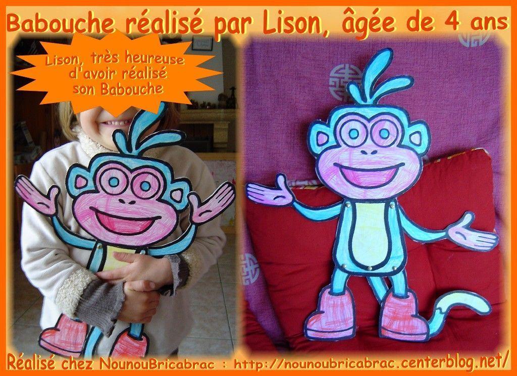 Marionnette Babouche... réalisée par Lison