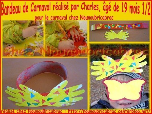 Bandeau de Carnaval réalisé par Charles... 19 mois 1/2
