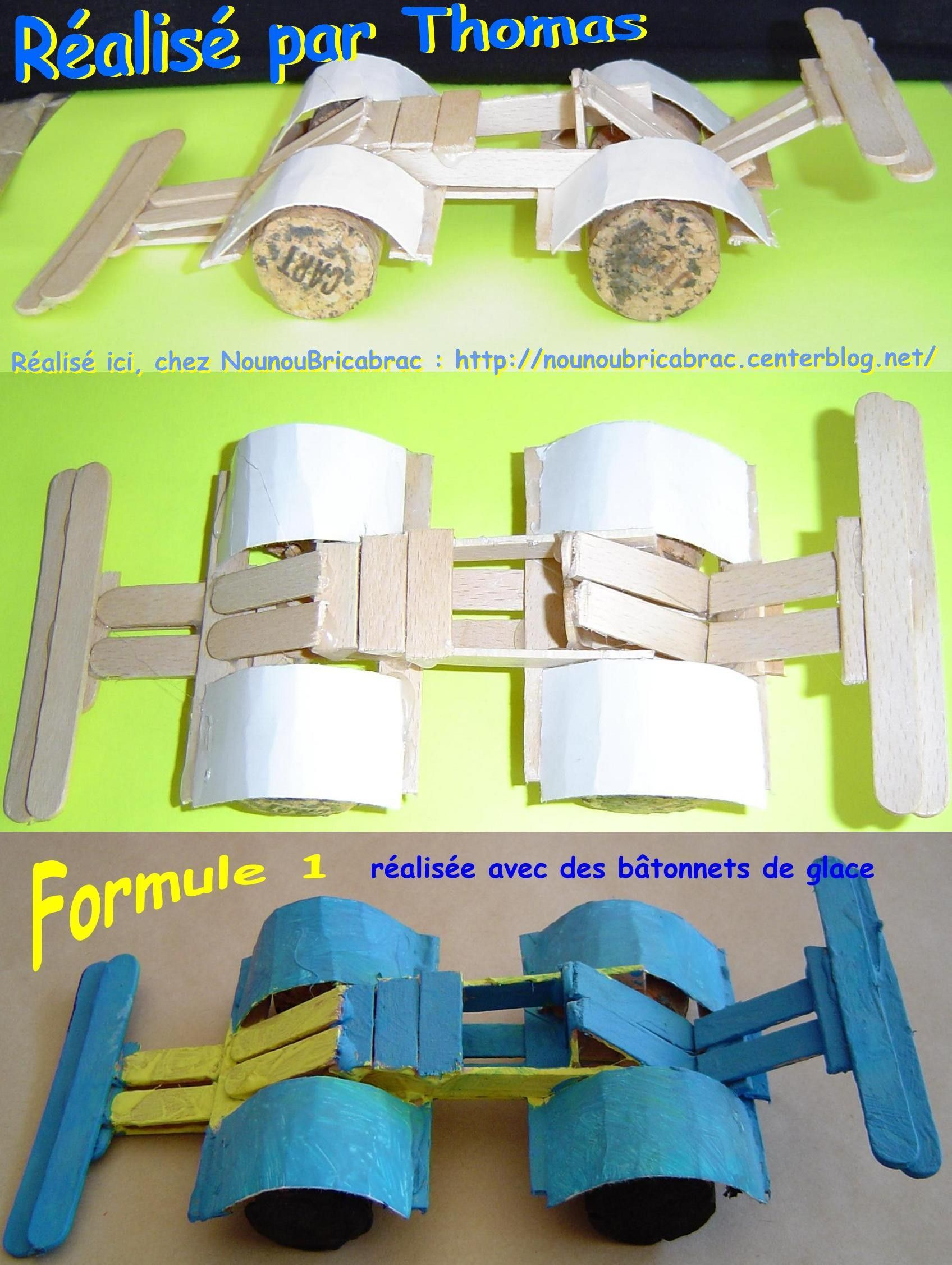F1 avec bâtonnets de glace... réalisé par Thomas