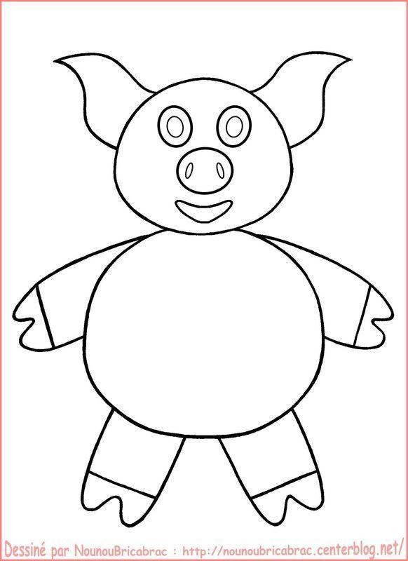 Cochon... à colorier