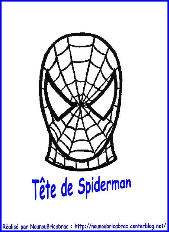 Marionnette Spiderman : sa Tête