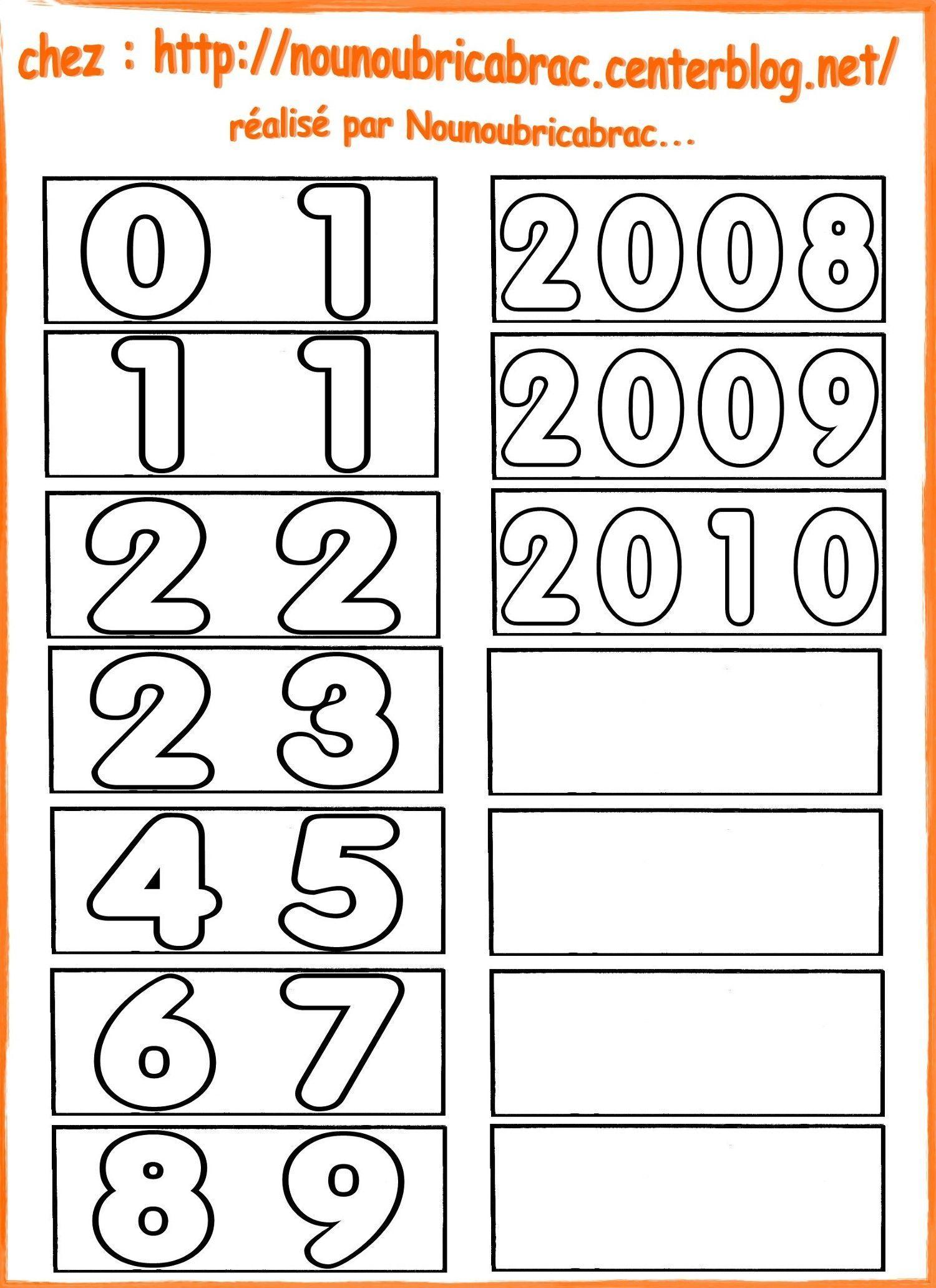 Calendrier pour apprendre ludiquement... les dates et années...