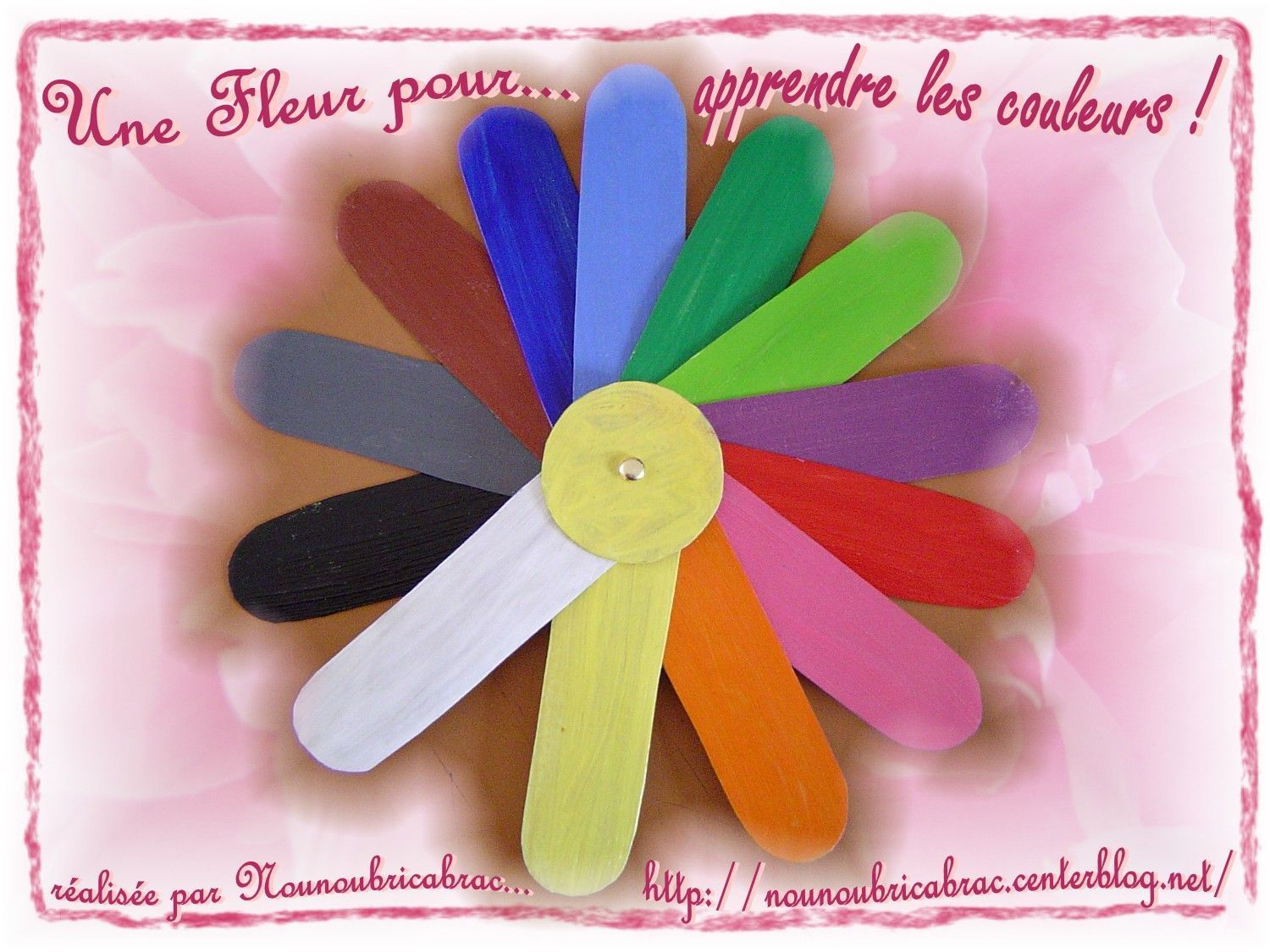 Une Fleur pour Apprendre les couleurs !!!