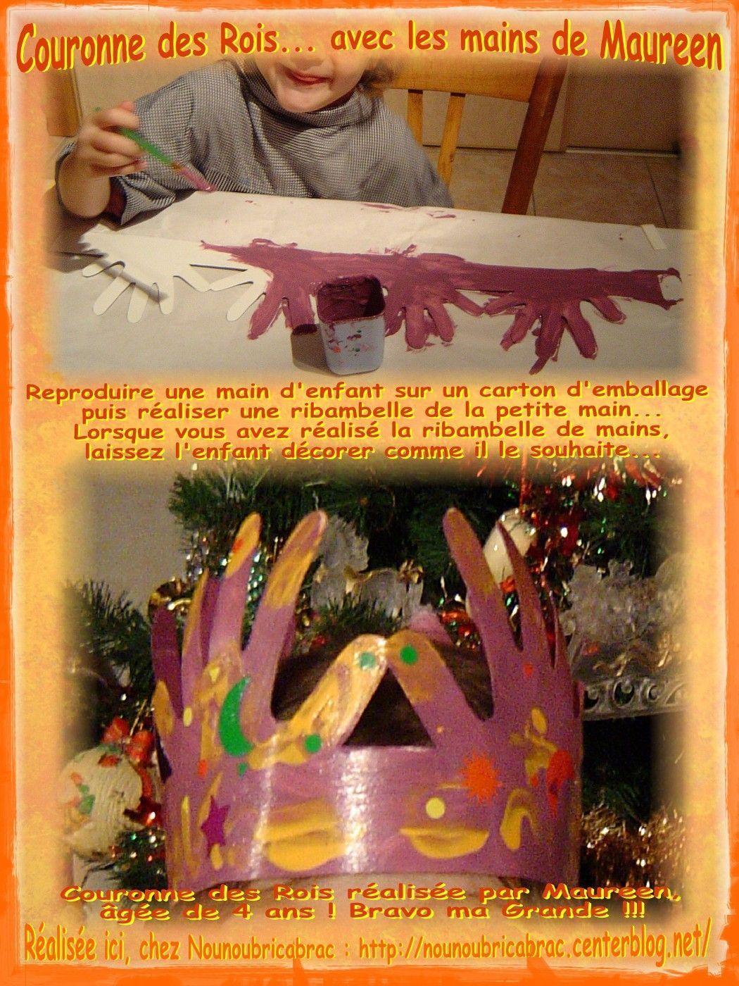 Couronne des Rois… avec des mains d'enfants / 3ème étape..... couronne de Maureen