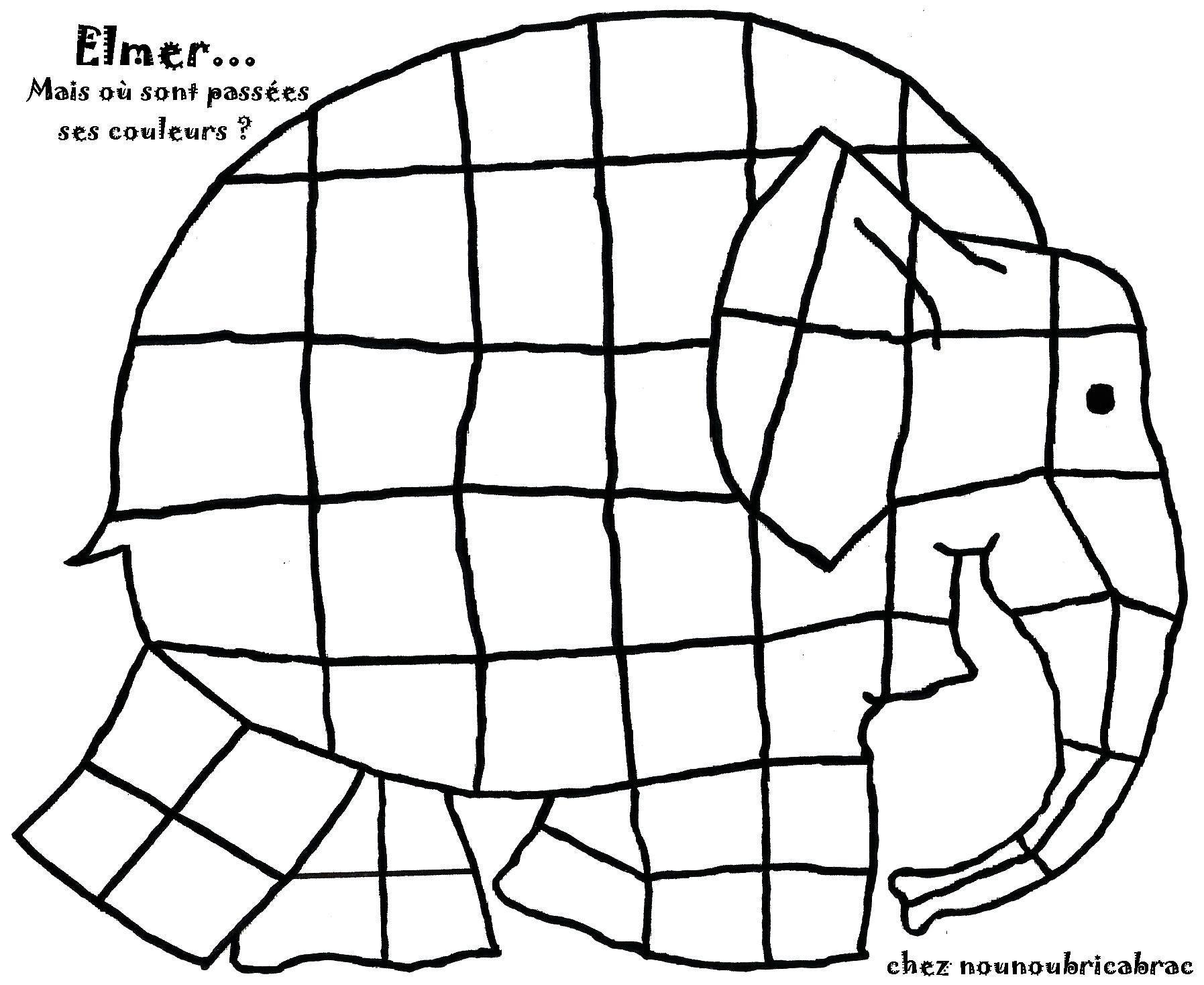 Elmer A Perdu Ses Couleurs Toi De Le Colorier Coloriage Elmer