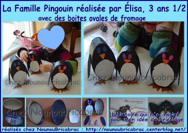 Ptit Pingouin et sa famille ralise par lisa, 3 ans 1/2