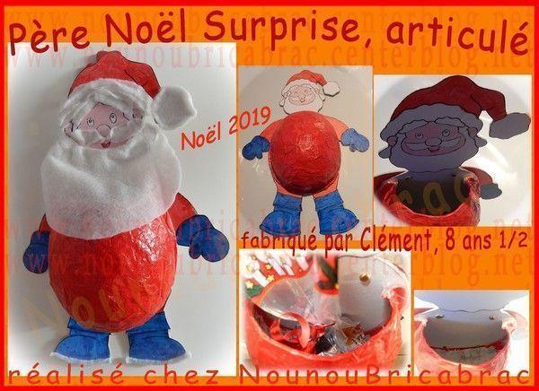 Père Noël surprise, articulé - Clément