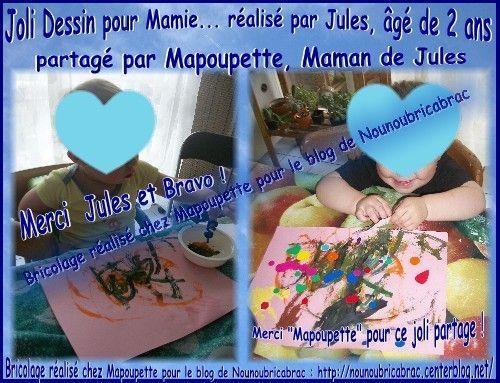 Joli dessin de Jules pour sa Mamie... chez Mapoupette