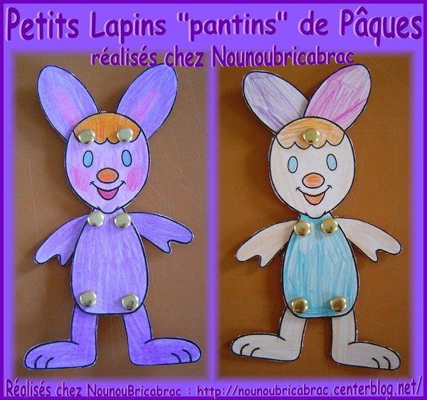 Lapin de Pâques marionnette *2* chez Nounoubricabrac