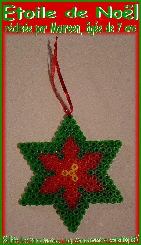 Décos de Noël en perles à repasser  modele perle a repasser noel