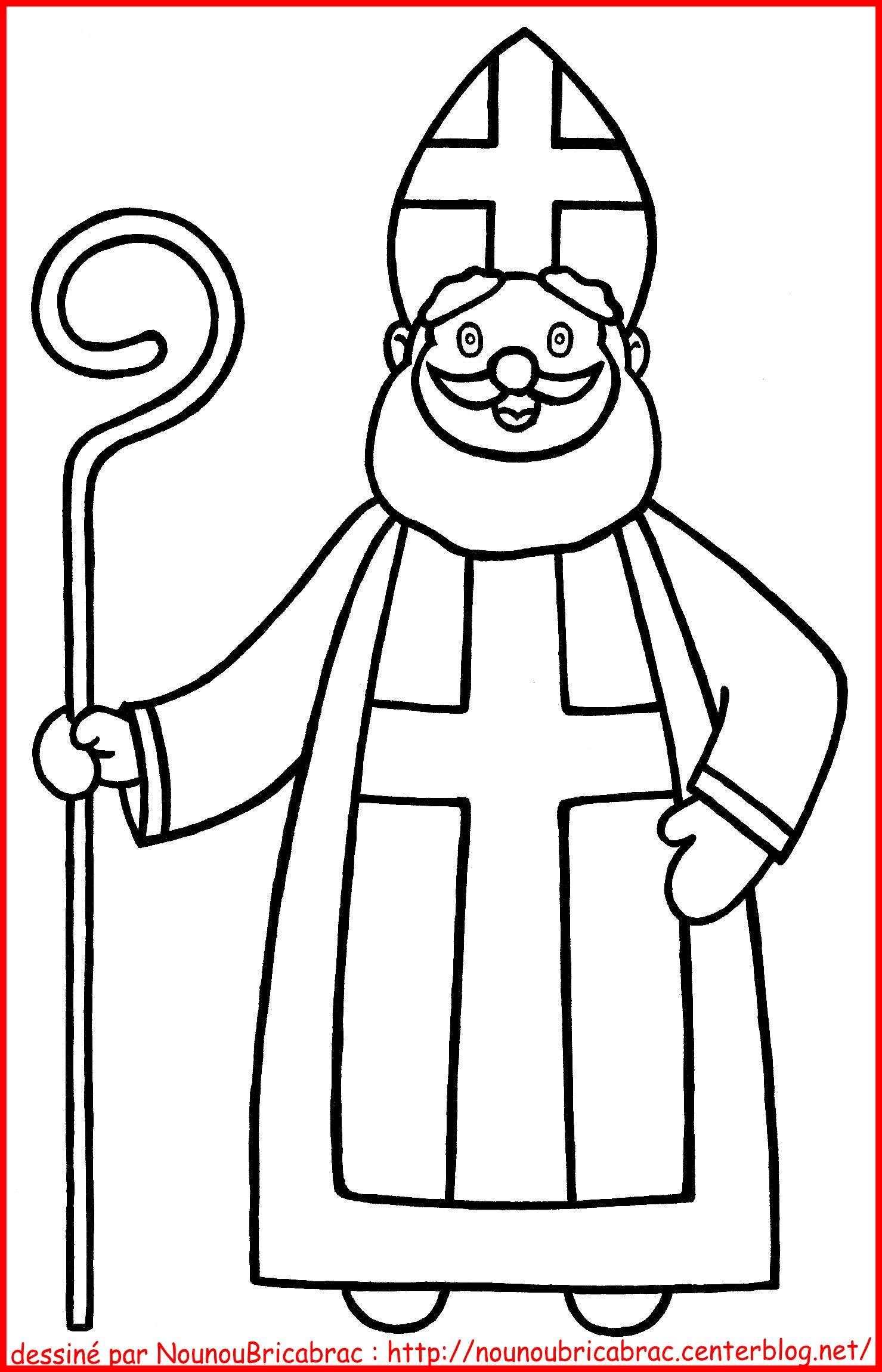 Coloriages Saint Nicolas