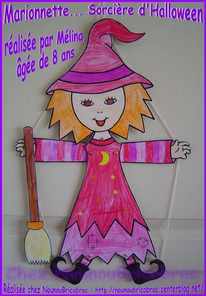 Marionnette, Sorcière d'Halloween... réalisée par Mélina