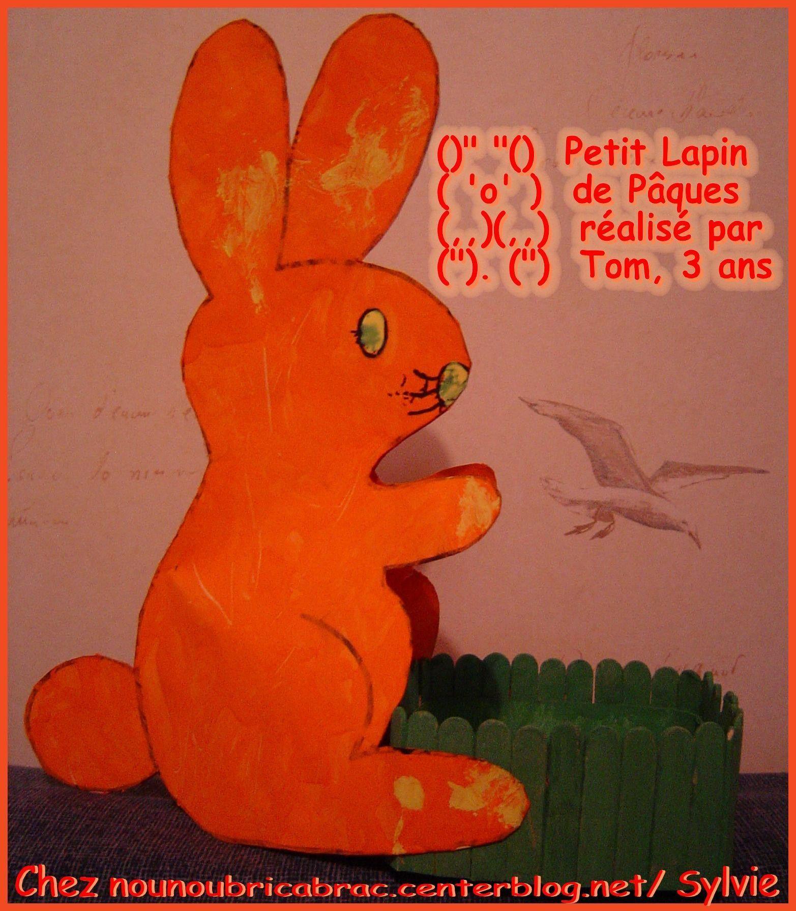 Lapin de Pâques *5* réalisé par Tom, 3 ans