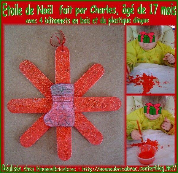 Étoile de Noël en bâtonnets et plastique dingue de Charles