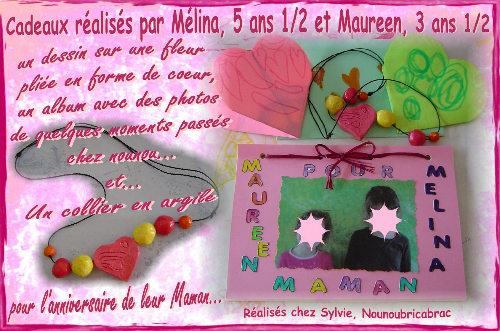 Cadeaux d'Anniversaire... raliss par Mlina et Maureen