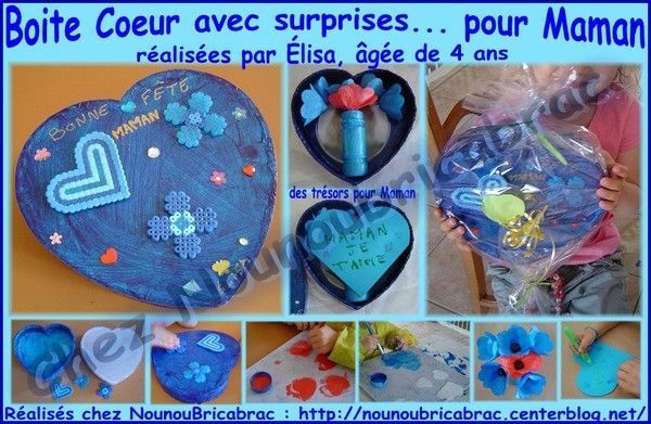 Boite Coeur avec surprises pour Maman... lisa, 4 ans