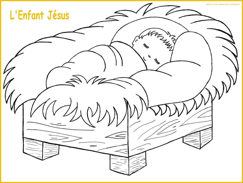 L'enfant Jésus à colorier