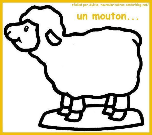 Mouton levant la tête... à colorier