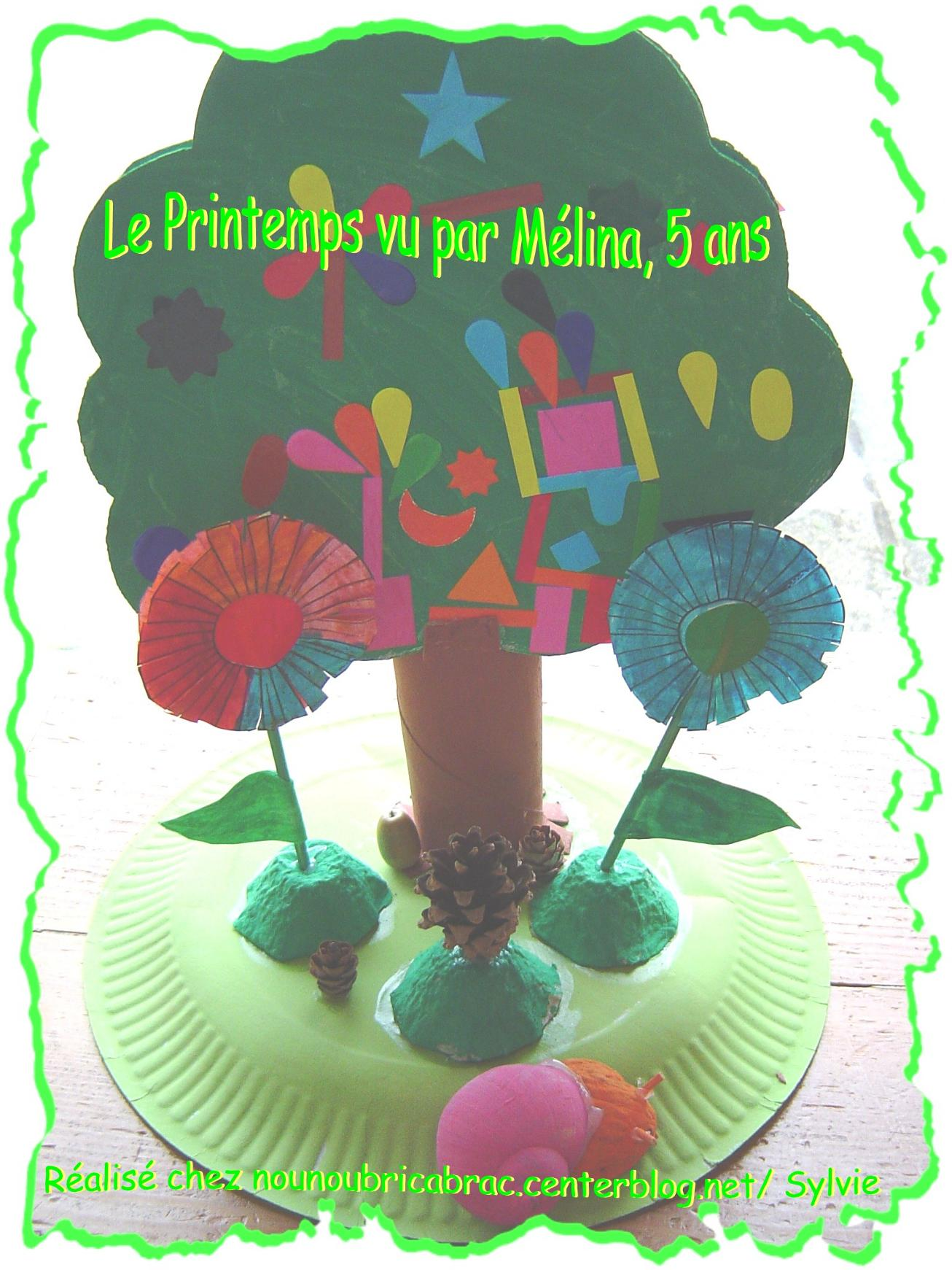 Petit Décor Printanier... réalisé par Mélina, 5 ans