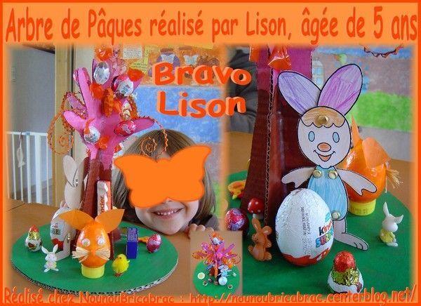 Arbre de Pâques réalisé par Lison, âgée de 5 ans