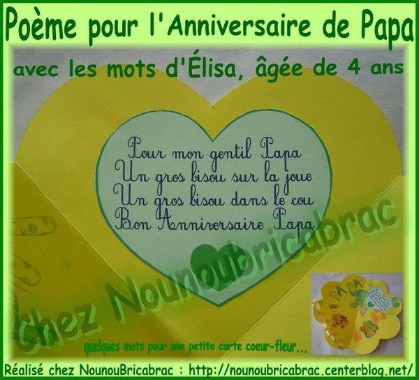 Pour mon gentil Papa... Élisa, 4 ans