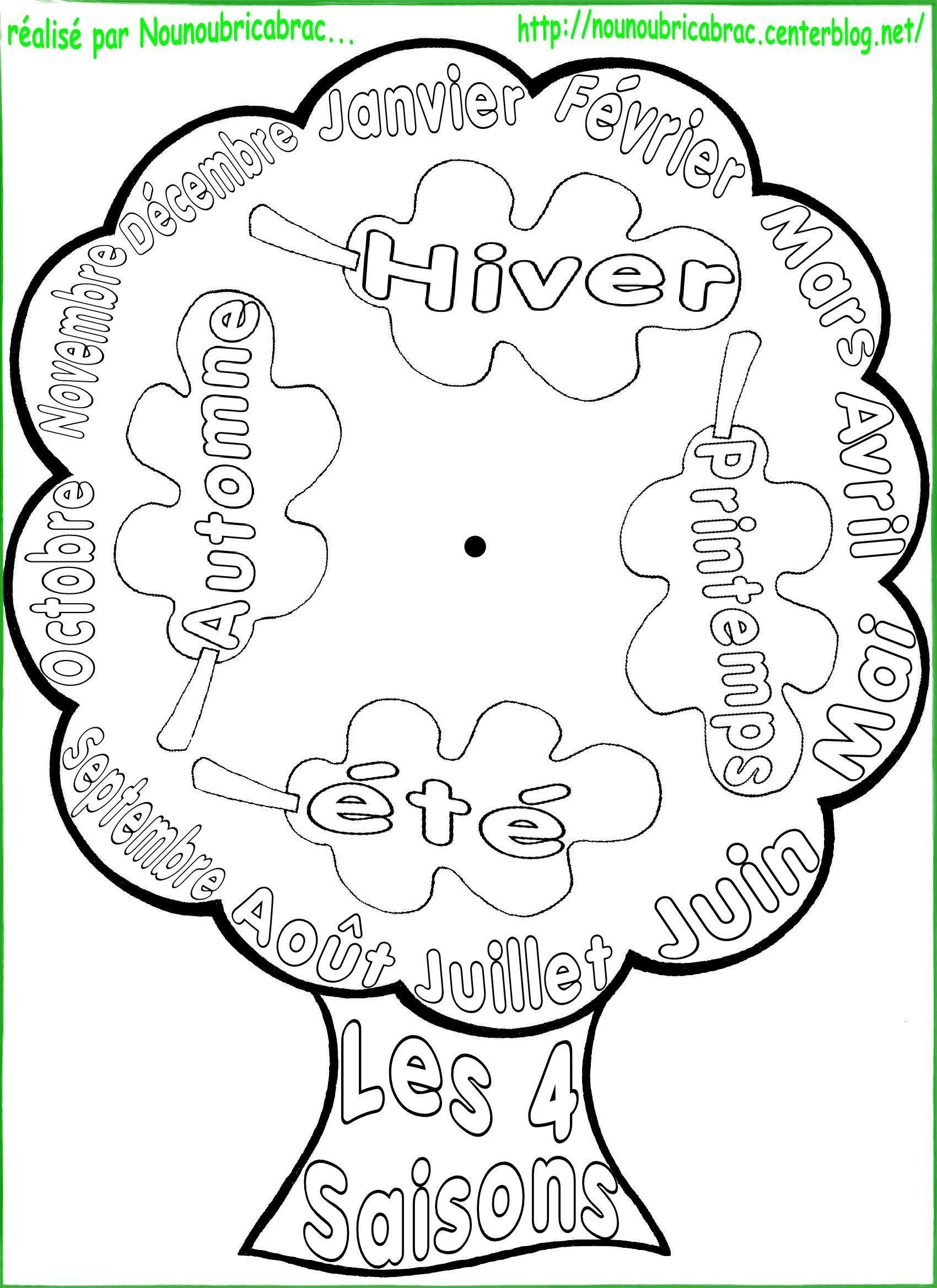 Bricolages apprendre ludiquement page 2 - Dessin 4 saisons ...