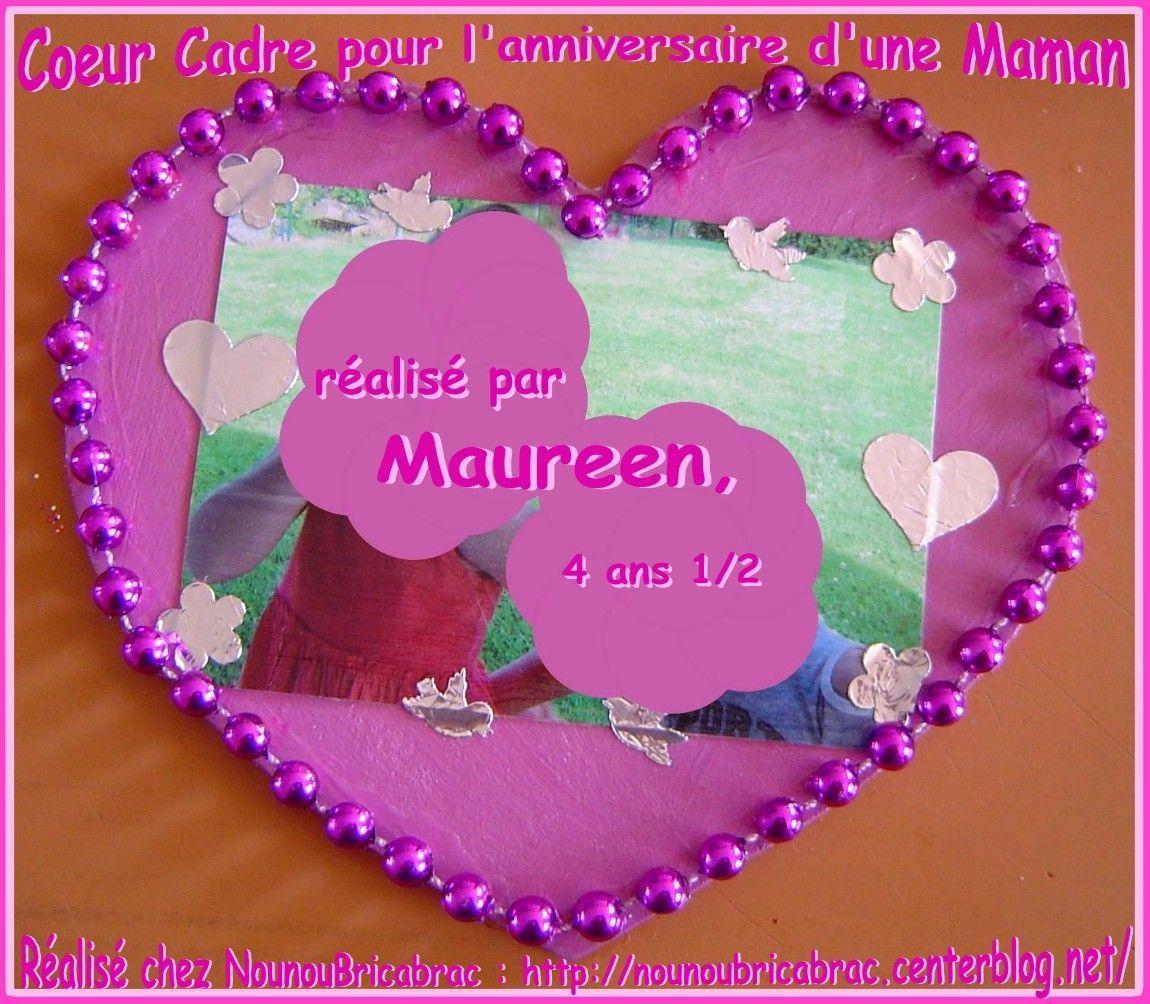 cadre en forme de coeur r alis par maureen pour sa maman centerblog. Black Bedroom Furniture Sets. Home Design Ideas