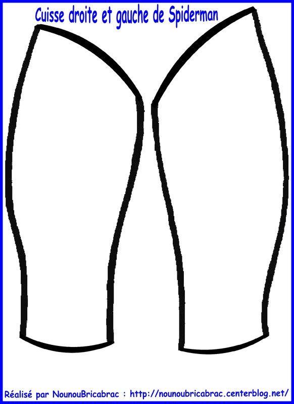 Marionnette Spiderman : cuisses droite et gauche