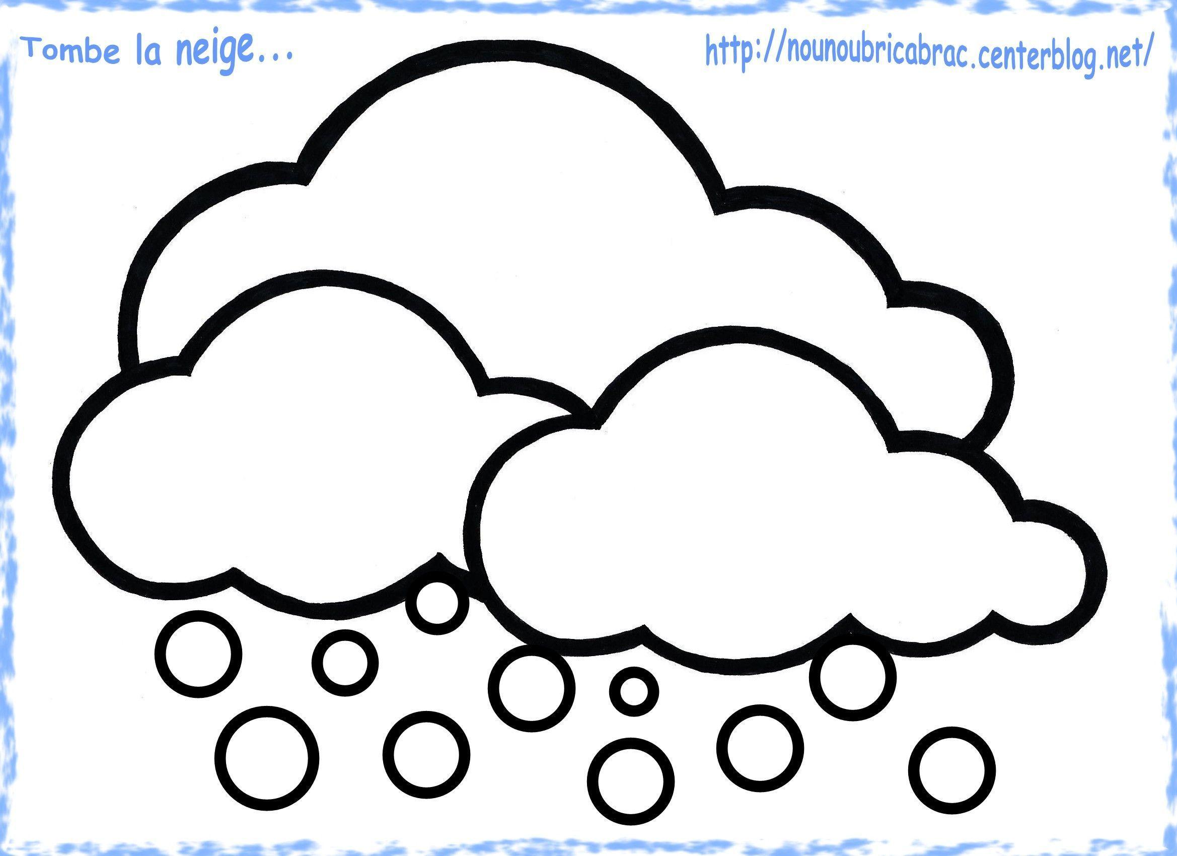 Nuages de Neige à colorier... pour notre Grenouille Météo