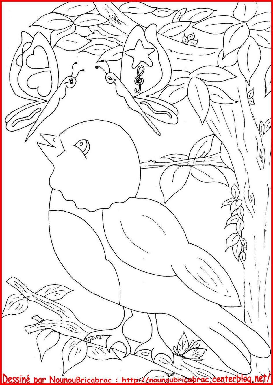 Oiseau et ses amis papillons colorier dessin oiseau et papillons - Dessiner un oiseau en maternelle ...