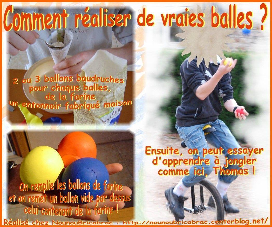 Comment réaliser de vraies balles pour apprendre à jongler ?