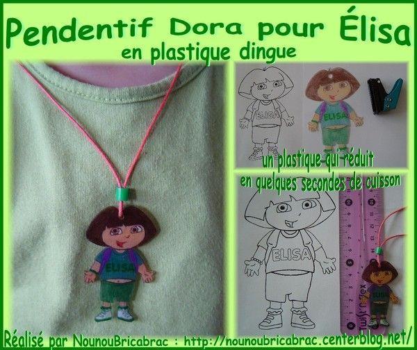 Pendentif Dora pour Élisa...