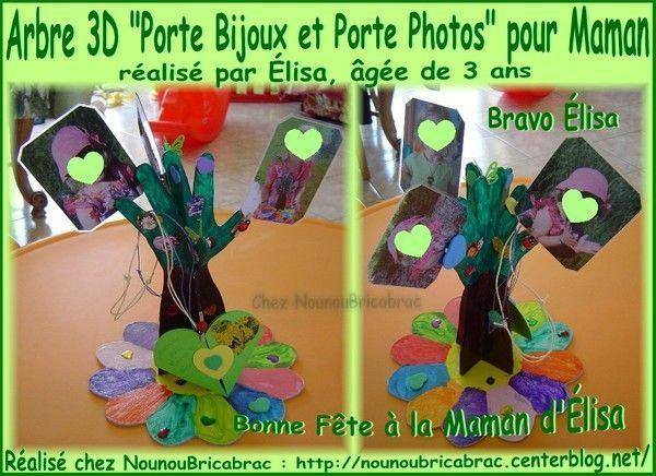 Arbre en 3D *Porte Bijoux* pour Maman, réalisé par Élisa *2*