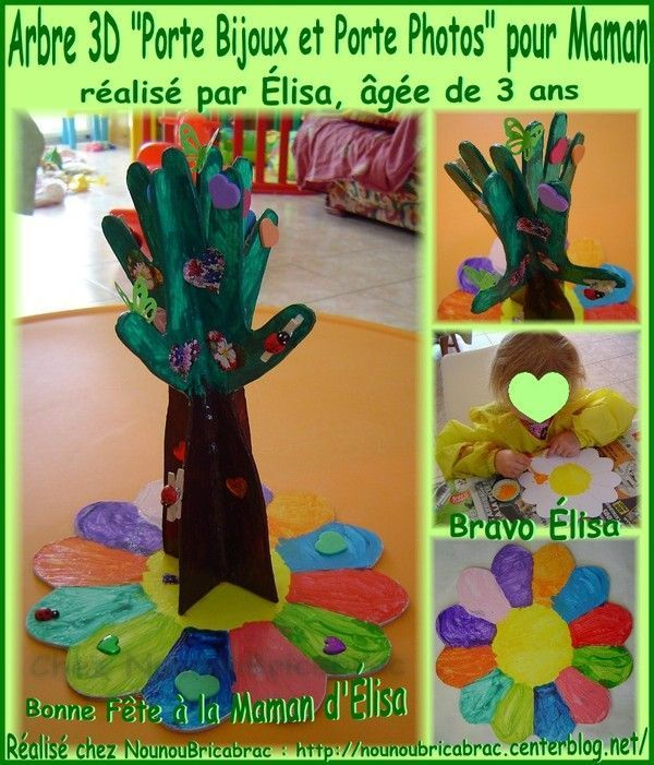 Arbre en 3D *Porte Bijoux* pour Maman, ralis par lisa *1*